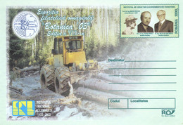 ROMANIA 2003: FORESTRY, MACHINERY, Unused Prepaid Cover 165/2003 - Registered Shipping! - Entiers Postaux