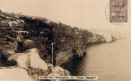 Malte Malta - Entrance To Ghar Hasan, Vela Photo Carte Photo (surcharge Postage And Revenue) - Malta