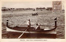 Malte Malta - Maltese Passenger's Boat (surcharge Postage And Revenue) (qualité Photo-carte R.P.) - Malta