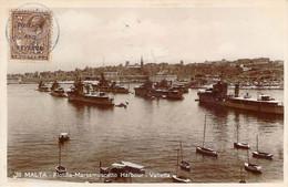 Malte Malta - La Valette Valletta - Flotilla Marsamuscetto Harbour (Postage And Revenue) (qualité Photo-carte R.P.) - Malta
