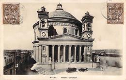 Malte Malta - La Valette Valletta - Musta Church (qualité Photo-carte R.P.) (Postange And Revenue) - Malta