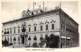 Malte Malta - La Valette Valletta - Auberge De Castille (qualité Photo-carte R.P.) - Malta
