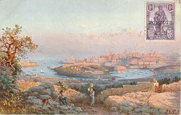 Malte Malta - General View Of Quarantine Harbour, Galea's Paintings Series - Malta