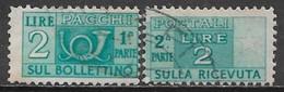 Italy 1947. Scott #Q64 (U) Post Horn & Numeral Of Value - Postpaketten