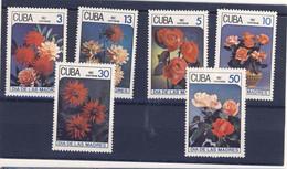 CUBA 1987 ROSES  YVERT N°2762/67 NEUF MNH** - Rosen