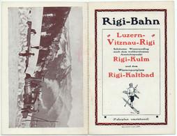 Doppel-AK Werbung RIGI-BAHN Mit Fahrplan 1913/1914 Dampflokomotive Im Winter - SZ Schwyz