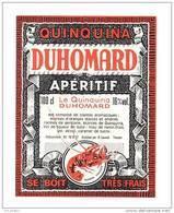 Etiquette D'Apéritif Quinquina  - Duhomard -   D. Lavault à Thouars   (79)    -   Thème Fruits De Mer - Sin Clasificación
