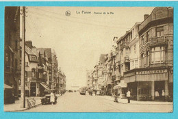 * De Panne - La Panne (Kust - Littoral) * (Nels, Série 9, Nr 121) Avenue De La Mer, Restaurant, Tram, Vicinal, TOP - De Panne