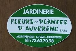 AUTOCOLLANT STICKER - JARDINERIE - FLEURS ET PLANTES D'AUVERGNE SARL - MONTPENSIER 63260 AIGUEPERSE - PUY-DE-DÔME - Pegatinas