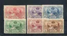 Espagne 1907 Yt 236-241 * - Unused Stamps