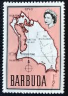 Barbuda - P5/23 - MNH - 1968 - Michel 12 - Kaart Van Het Eiland - Antigua E Barbuda (1981-...)