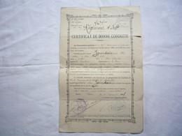 Certificat De Bonne Conduite 1897 76 ème Rég Infanterie Soldat Jourdain Joseph - Documenten