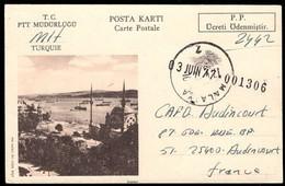 TURKEY (1977) Istanbul. Postage Paid Postal Card With Corner Photo. - Enteros Postales