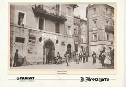 """St.581A - GROTTE DI CASTRO - """"Piazza Umberto I°, Stampa Pubblicata Dal Messaggero""""  - Recto E Verso - Prints & Engravings"""