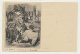 Carte Fantaisie - Le Cygne Et Le Cuisinier - Illustrateur Signé Granville - Fiabe, Racconti Popolari & Leggende