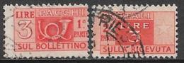 Italy 1947. Scott #Q65 (U) Post Horn & Numeral Of Value - Postpaketten