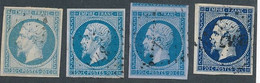 EB-142 FRANCE: Lot Avec N°14A (4 Teintes Dont Lilas) 1er Choix - 1853-1860 Napoléon III