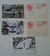 D180498 Hungary Úttörő Olimpia  Pioneer Olympia Miskolc 1971 Budapest 1976 Kaposvár 1974 Szolnok 1974 Lot Of 5 Postcards - Rio De Janeiro