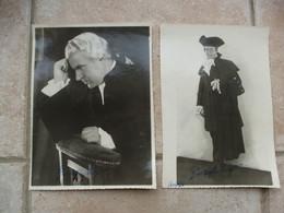 Guiseppe Lugo 2 Photos Autographe Opéra Comique Paris à Identifier - Autographs