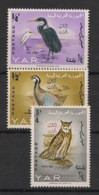 Yemen (YAR) - 1966 - N°Mi. 459 à 461 - Oiseaux / Birds - Surchargés - Neuf Luxe ** / MNH / Postfrisch - Non Classificati