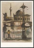 Allemagne RDA EP Kunstaustellung DDR Arno Mohr Weidendammbrücke Pont - Privatpostkarten - Ungebraucht