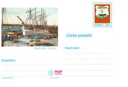 ROMANIA 1997: SAILING SHIP & HARBOR, Unused Prepaid Postal Card 105/1997 - Registered Shipping! - Entiers Postaux
