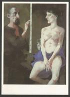Allemagne RDA EP Kunstaustellung DDR Arno Rink Maler Und Modell Nu - Privatpostkarten - Ungebraucht