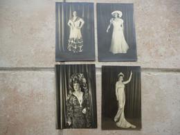 4 Photos Opéra Comique Paris à Identifier - Autographs