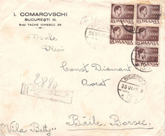 ROUMANIE / ROMANIA - INFLATION PERIOD : 1947 - LETTRE / ENVELOPPE / LETTER / COVER - TARIF / RATE : 50000 LEI (ah542) - Briefe U. Dokumente