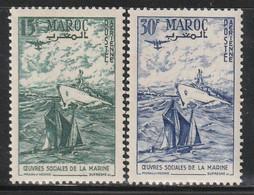 MAROC - Poste Aérienne N°98/9 ** (1954) - Luchtpost