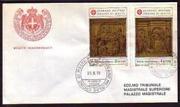 MALTA (Ordre De ) - 1979 -  FDC - Voyage - Malte (Ordre De)