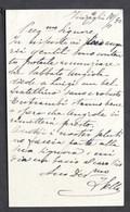 Autografo Di Federico Sella Su Biglietto Da Visita - Vinzaglio - 1892 - Autographs