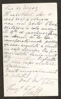 Autografo Di Federico Sella Su Biglietto Da Visita - 1899 - Autographs
