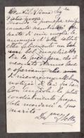Autografo Di Federico Sella Su Biglietto Da Visita - 1895 Ca. - Autographs