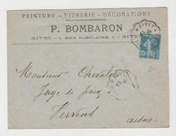 ARDENNES: P. BOMBARON, Peintures, Vitreries, R. St Hilaire à Givet / LSC De 1926 Pour Vervins - 1921-1960: Modern Period