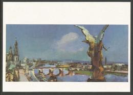 Allemagne RDA EP Kunstaustellung DDR Siegfried Klotz Dresden 40 Jahre Danach Pont - Privatpostkarten - Ungebraucht