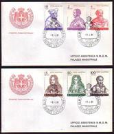 MALTA (Ordre De ) - 1981 -  Personalites - 2 FDC - Voyage - Malte (Ordre De)