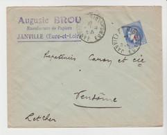 EURE & LOIR: Auguste BROU, Manufacture De Papiers à Janville / LSC De 1941 Pour Vendôme - 1921-1960: Periodo Moderno