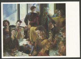 Allemagne RDA EP Kunstaustellung DDR Ulrich Hachulla Cafe IV - Privatpostkarten - Ungebraucht