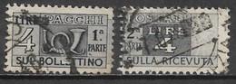 Italy 1947. Scott #Q66 (U) Post Horn & Numeral Of Value - Postpaketten