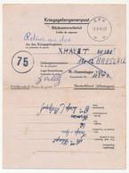BELGIQUE - Lettre Réponse Pour Un Prisonnier De Guerre Stalag VIIIA - Depuis Liège - 1945 - Censure Belge 75 Dans Cercle - Cartas