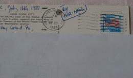 USA - Timbre Oblitéré Stars And Stripes Sur Carte Postale De New York City(Statue De La Liberté) - Sammlungen