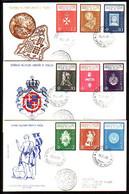 MALTA (Ordre De ) - 1966 -  3 FDC - Voyage - Malte (Ordre De)