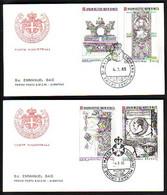 MALTA (Ordre De ) - 1985 -  2 FDC - Voyage - Malte (Ordre De)