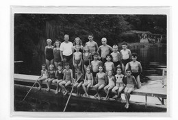 Carte Photo CLOYES SUR LE LOIR - 1947 - Passerelle Plongeoir Baignade Des Enfants - Photographie Bourget Cloyes Tampon - Other Municipalities