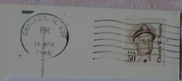 USA - Timbre Oblitéré Chester W. Nimitz 50c Sur Carte De Chicago - Sammlungen