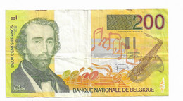 Billet , Belgique , Deux Cents , 200 Francs, Zweihundert Franken , 2 Scans , Belgische Nationalbank - 100 Francs