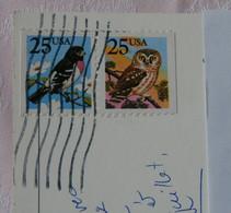 USA - 2 Timbres Oblitérés Et Attachés (Oiseaux Différents Mais Tous Les Deux Valant 25c) Sur Carte De Chicago - Sammlungen