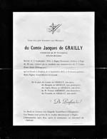 Aviation - Comte Jacques De GRAILLY - Décédé Le 2 Septembre 1911 Victime D'une Chute D'Aéroplane  + 1 Photo - Aviadores