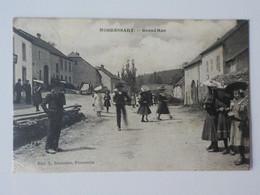 1908 CP Animée Photo Nobressart Attert Grand Rue Vêtements Du Dimanche Sortie De Messe? Edit Duparque Gaume - Attert